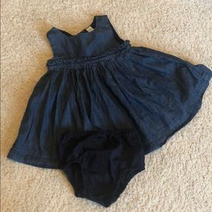 Baby Gap denim dress and bloomers